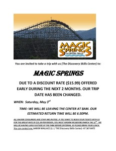 MAGIC SPRINGS  FLIER